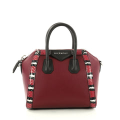 Givenchy Antigona Bag Leather with Snakeskin Mini Red 3057101