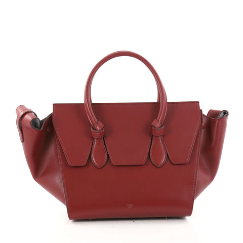91f101dac Celine Tie Knot Tote Smooth Leather Medium Red 3058401 – Rebag
