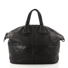 Givenchy Nightingale Satchel Leather Large Black 3059701