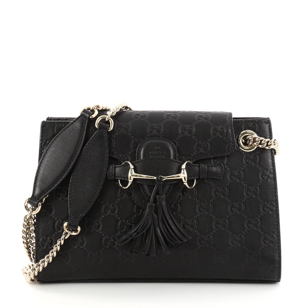 64bb4d03f75f Buy Gucci Emily Chain Flap Shoulder Bag Guccissima Leather 3061602 ...