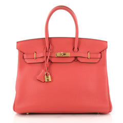 Hermes Birkin Handbag Pink Togo With Gold Hardware 35 Pink 3064101