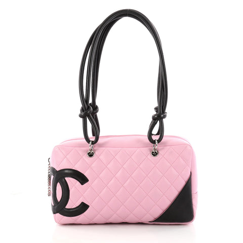 f65a7e735d5b Buy Chanel Cambon Bowler Bag Quilted Leather Medium Pink 3065701 – Rebag