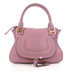 Chloe Marcie Satchel Leather Medium Purple 3067901