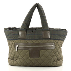 Chanel Coco Cocoon Zipped Tote Quilted Printed Nylon 3072903