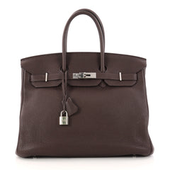 Hermes Birkin Handbag Brown Togo with Palladium Hardware 35 Brown 3073105