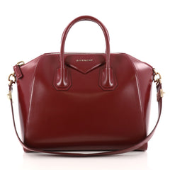 Givenchy Antigona Bag Glazed Leather Medium Red 3074501