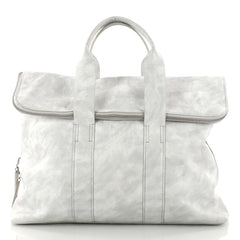 3.1 Phillip Lim 31 Hour Fold-Over Tote Leather White 3076201