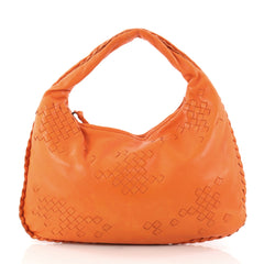 Bottega Veneta Hobo Leather with Intrecciato Detail 3076601