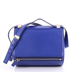 Givenchy Pandora Box Handbag Leather Medium Blue 3076901