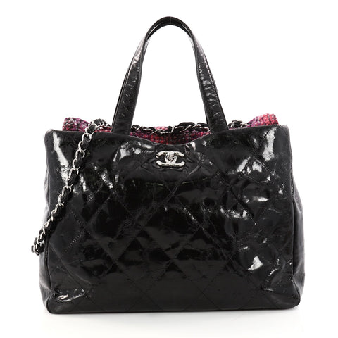 d6f3225d5581 Buy Chanel Portobello Tote Quilted Glazed Calfskin and Tweed 3079101 – Rebag