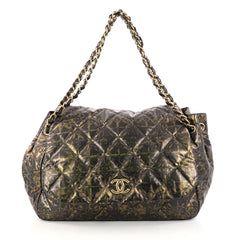 Chanel Accordion Flap Bag Quilted Printed Nylon Medium 3079602