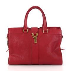 Saint Laurent Chyc Cabas Tote Leather Small Red 3080102
