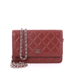 Chanel Wallet on Chain Quilted Caviar Red 3081202