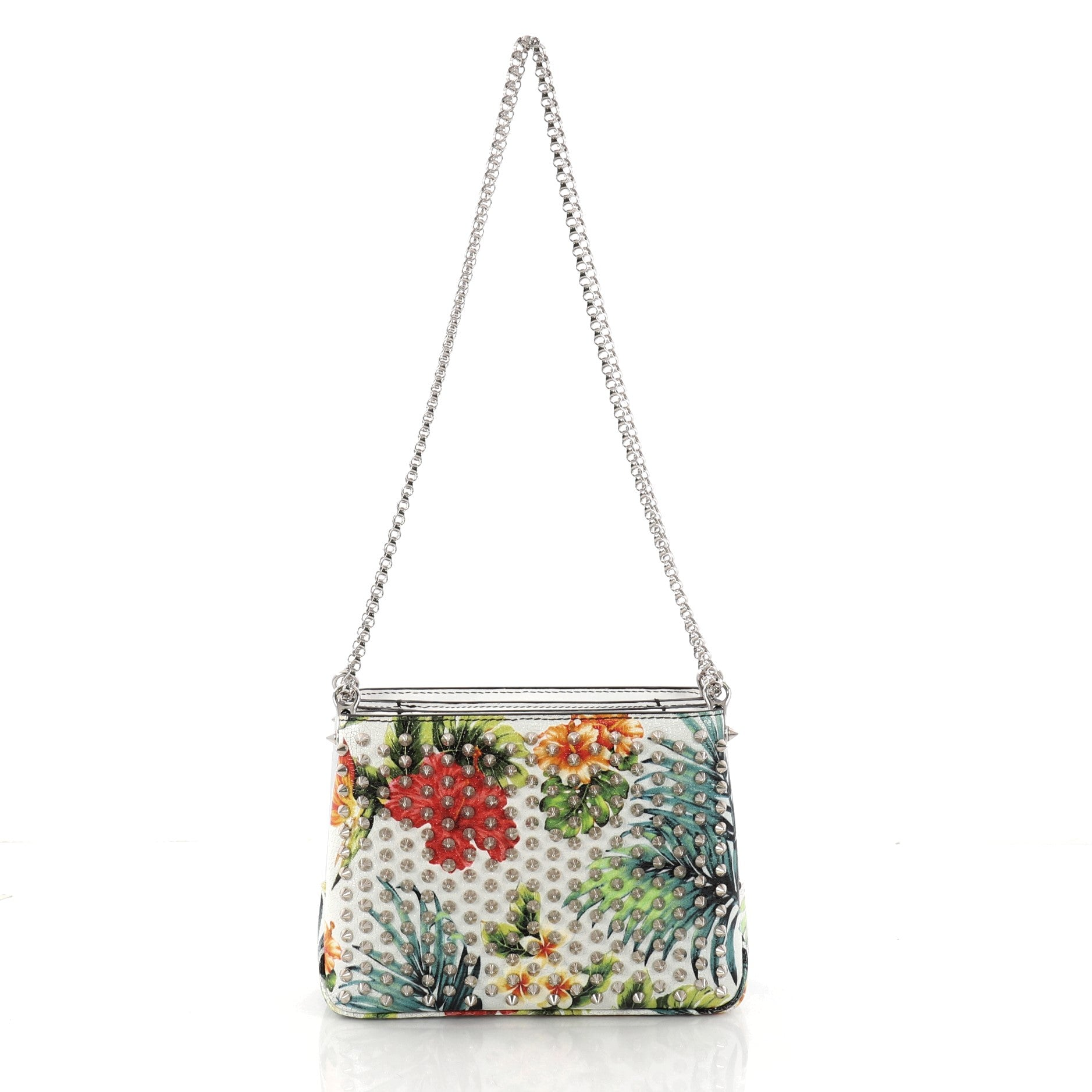 Triloubi Chain Bag Printed Leather Small