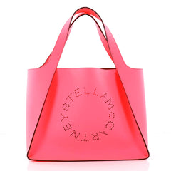 Stella McCartney Alter Tote Perforated Faux Leather East West Pink 3083702