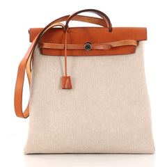 Hermes Herbag Toile and Leather MM Neutral 3090503