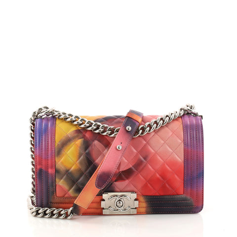 3ed9eba92269 Buy Chanel Limited Edition Flower Power Boy Flap Bag Quilted 3094801 – Rebag