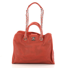 Up In The Air Convertible Tote Perforated Leather