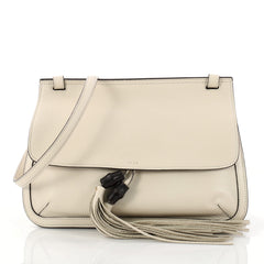 Gucci Bamboo Daily Flap Bag Leather Neutral 3098002