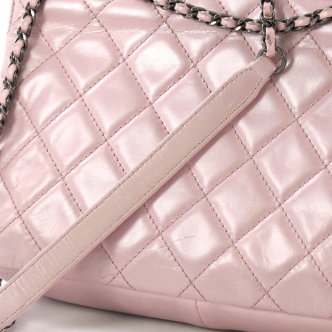 c5eae8b2d14259 Chanel Pleated Chain Flap Bag Quilted Calfskin Medium Pink 3103202 ...