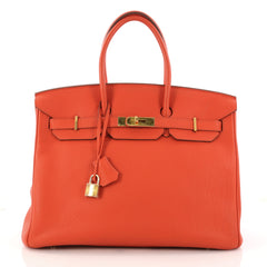 Birkin Handbag Feu Togo with Gold Hardware 35