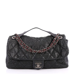 Chanel In the Mix Flap Bag Quilted Iridescent Calfskin With Glazed Calfskin Jumbo 3109501