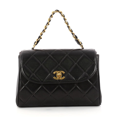 8fef222a9697b5 Buy Chanel Vintage Square Chain Handle Flap Bag Quilted 3112401 – Rebag