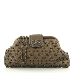 Chanel Knot Chain Frame Clutch Lambskin Large Gold 3113302