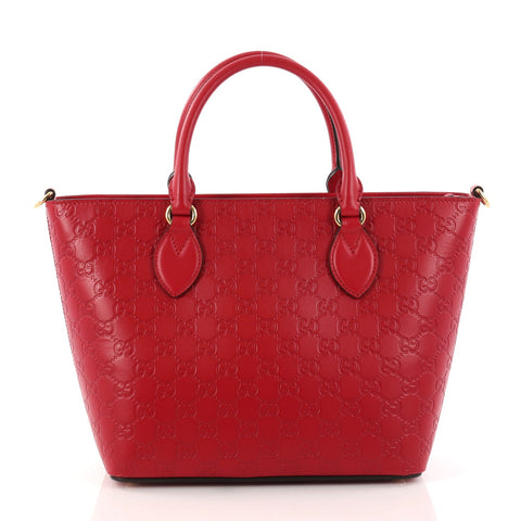 fed32cd3c7e7 Buy Gucci Signature Convertible Tote Guccissima Leather 3114501 – Rebag