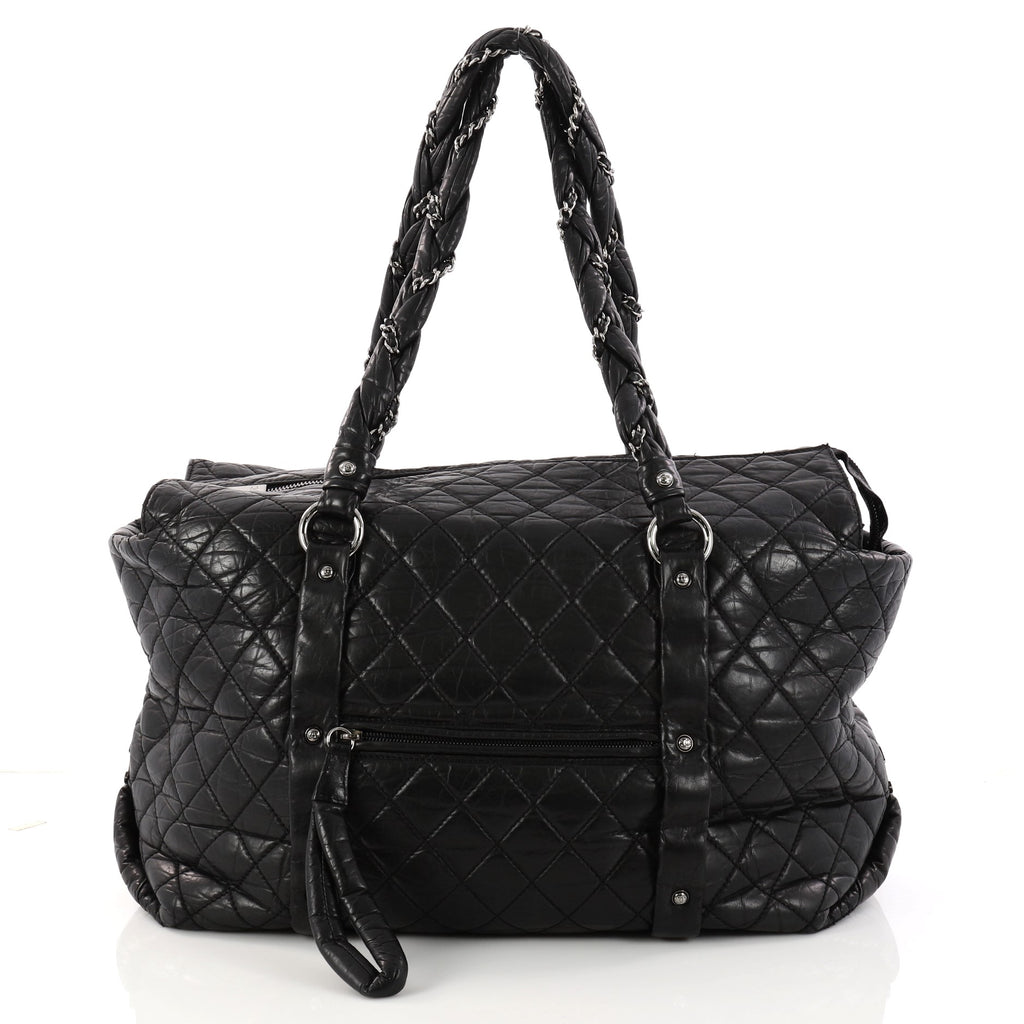 fd507d5847ae1c Chanel Ligne Lady Braid Tote Quilted Distressed Lambskin XL 3114802 ...