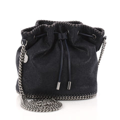 Stella McCartney Falabella Drawstring Bucket Bag Shaggy 3117103