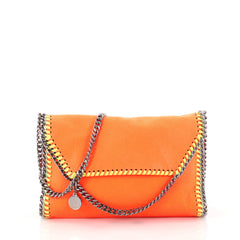 Stella McCartney Falabella Clutch on Chain Shaggy Deer Orange 3125804