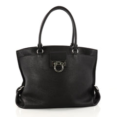 Salvatore Ferragamo Dotty Tote Leather Black 3126002