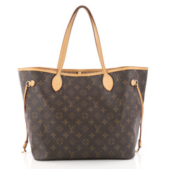 Louis Vuitton Neverfull Tote Monogram Canvas MM Brown 3129601