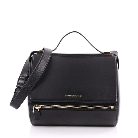 ca26141b87 Buy Givenchy Pandora Box Handbag Leather Medium Black 3135201 – Rebag