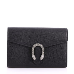 Gucci Dionysus Chain Wallet Leather with Embellished Detail Small Black 3136701