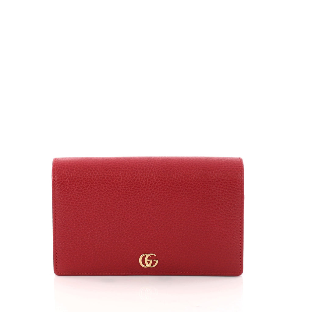 2a6262cd4ca Buy Gucci Petite Marmont Chain Wallet Leather Mini Red 3136703 – Rebag