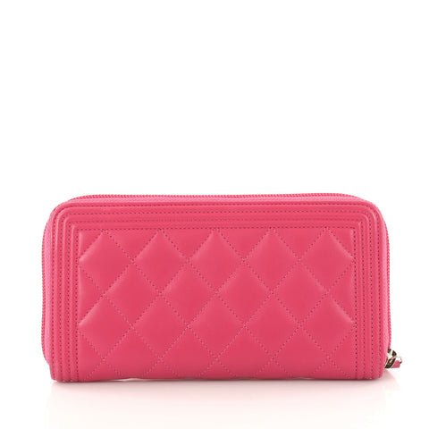 7d5d1a4ff1db Buy Chanel Boy L-Gusset Zip Wallet Quilted Lambskin Long 3138802 – Rebag