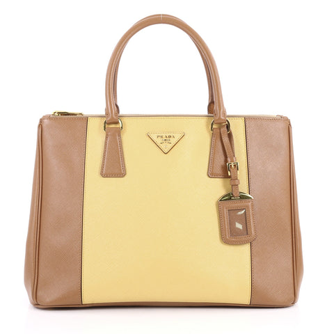 c2fbcd46f49b ... sweden buy prada bicolor double zip lux tote saffiano leather 3139701  rebag 6ec7e 50bcb ...