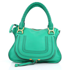 Chloe Marcie Satchel Leather Medium Green 3140402