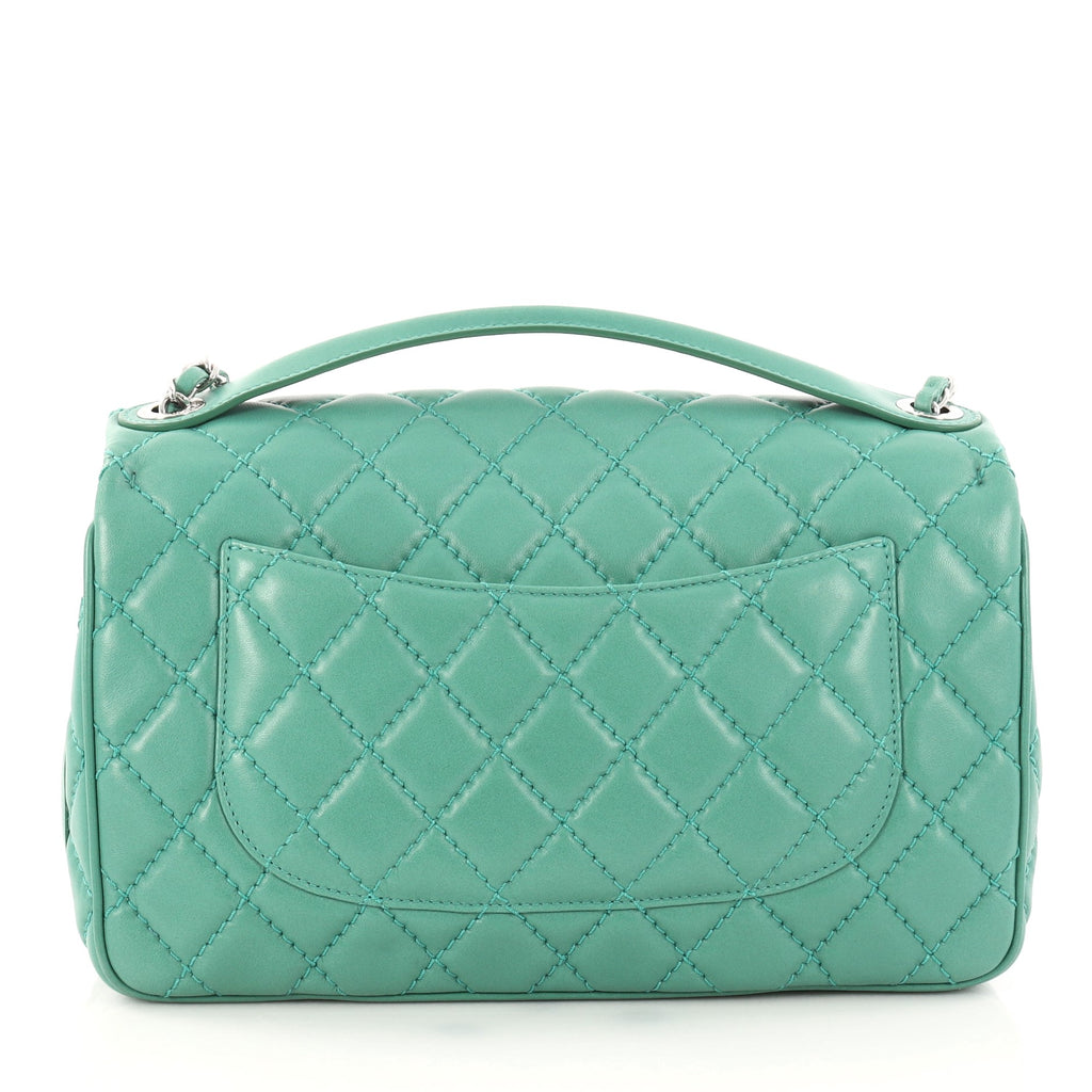 d7a8d16cd403 Buy Chanel Easy Carry Flap Bag Quilted Lambskin Jumbo Green 3141602 ...