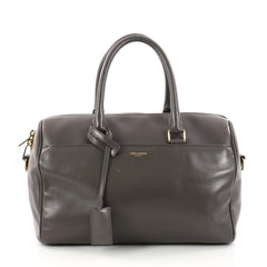 Saint Laurent Classic Duffle Bag Leather 6 Gray 3143504