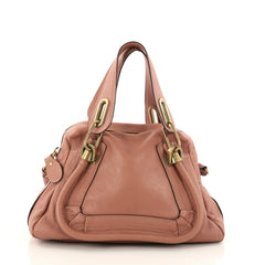 Chloe Paraty Top Handle Bag Leather Small Pink 3145303