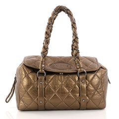 Chanel Lady Braid Flap Tote Quilted Distressed Lambskin 3147301
