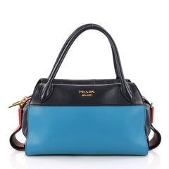 Prada Bowling Ribbon Bag City Calf Blue 3148303