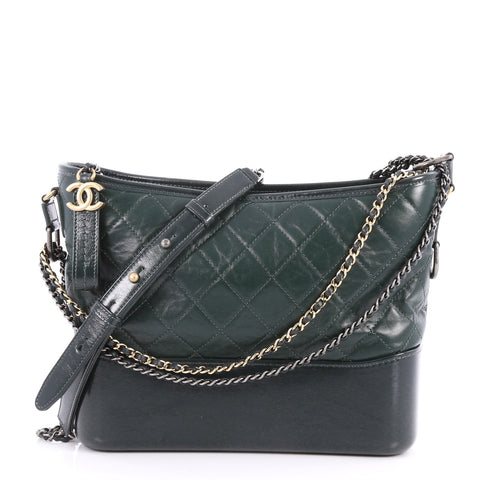 141e1ff921be Buy Chanel Gabrielle Hobo Quilted Aged Calfskin Medium Green 3154001 – Rebag
