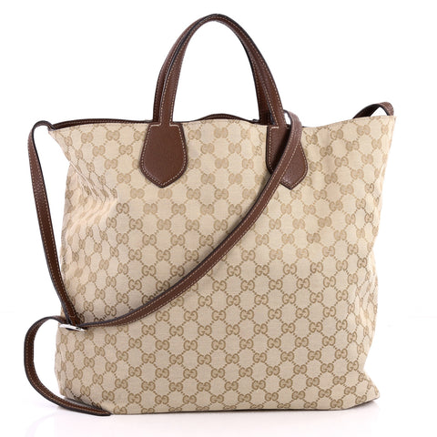 b067e2ed21dc Buy Gucci Ramble Reversible Tote GG Canvas and Leather Large 3154801 – Rebag