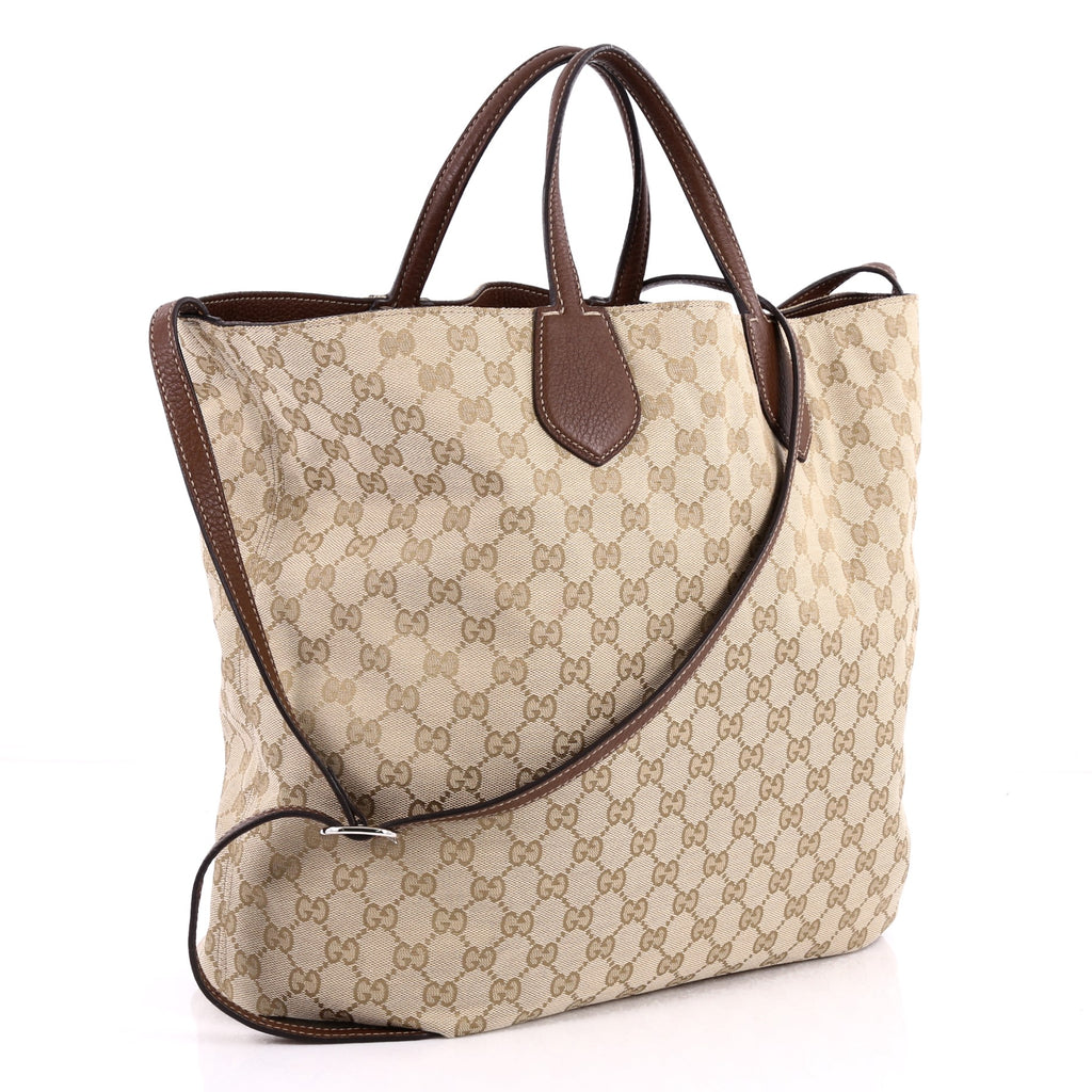 1aac749cc276 Buy Gucci Ramble Reversible Tote GG Canvas and Leather Large 3154801 ...