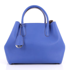 Christian Dior Open Bar Bag Leather Large Blue 3155602