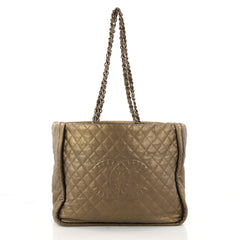 Chanel Istanbul Tote Quilted Leather Large Gold 3158403